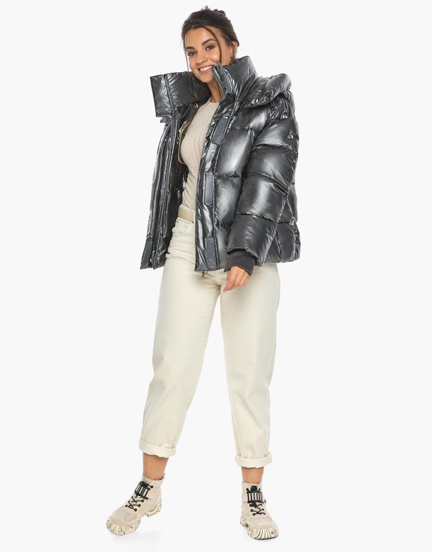 Воздуховик женский модный Braggart цвет темное серебро модель 44210 фото 2