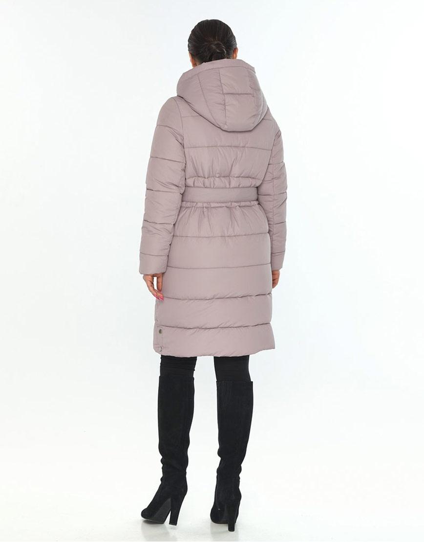 Люксовая куртка большого размера пудровая женская Wild Club 584-52 фото 3
