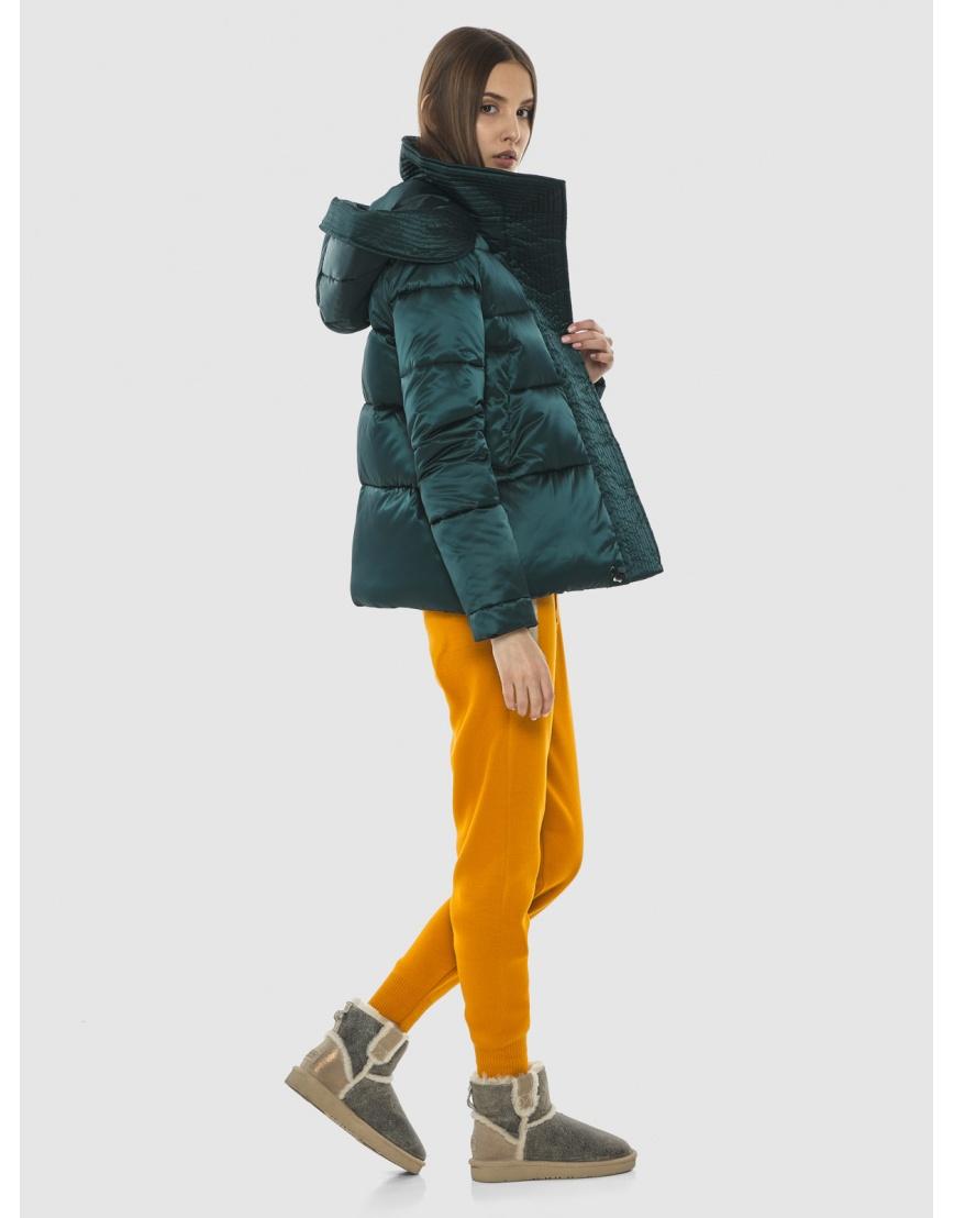 Курточка зелёная женская Vivacana комфортная  9742/21 фото 5