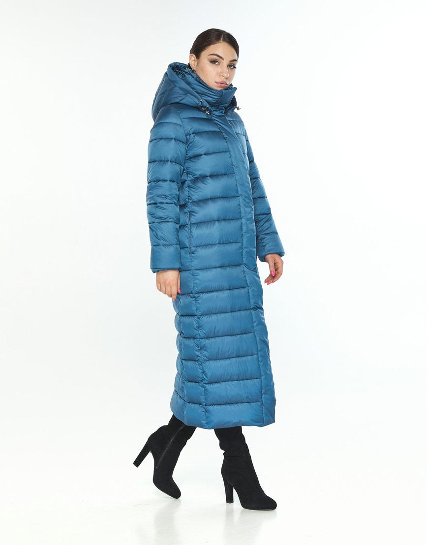 Женская куртка Wild Club зимняя аквамариновая фирменная 524-65 фото 2