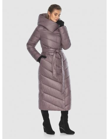 Пудровая стёганая куртка Ajento подростковая на зиму 23046 фото 1