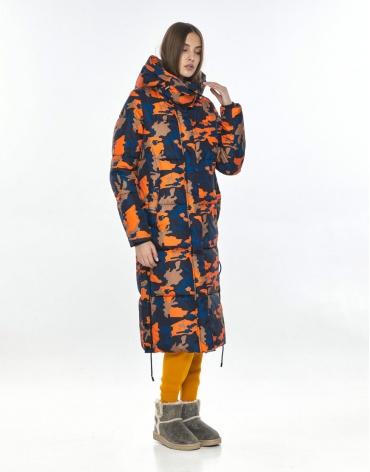 Куртка с рисунком стильная Vivacana зимняя на подростка 7654/21 фото 1