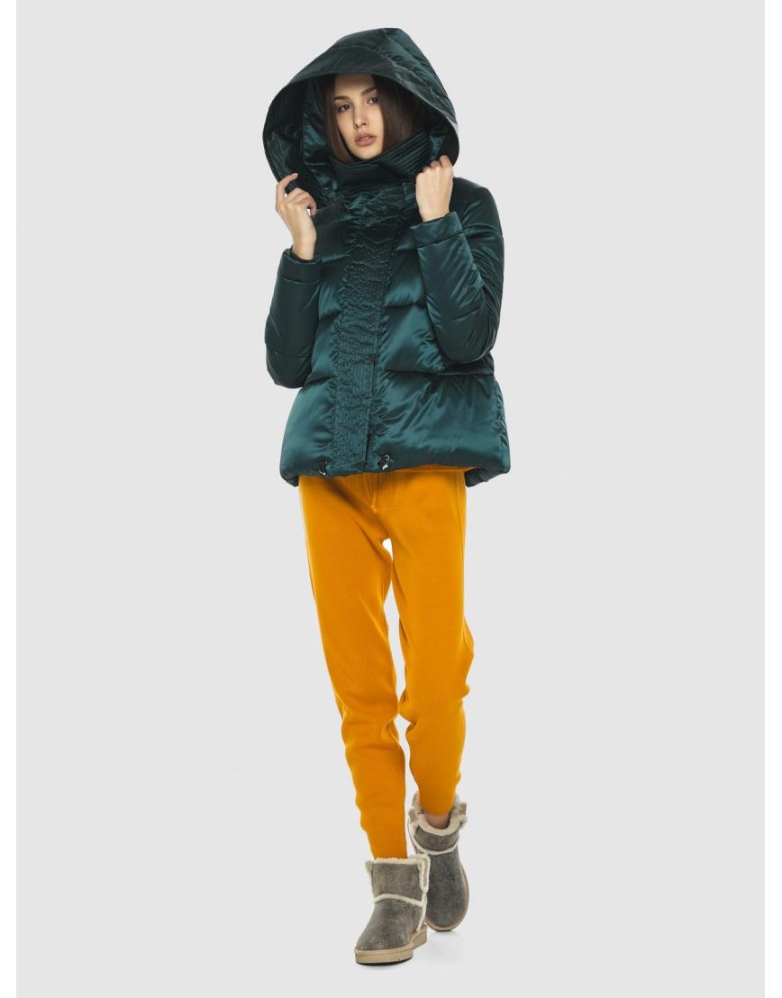 Курточка зелёная женская Vivacana комфортная  9742/21 фото 6