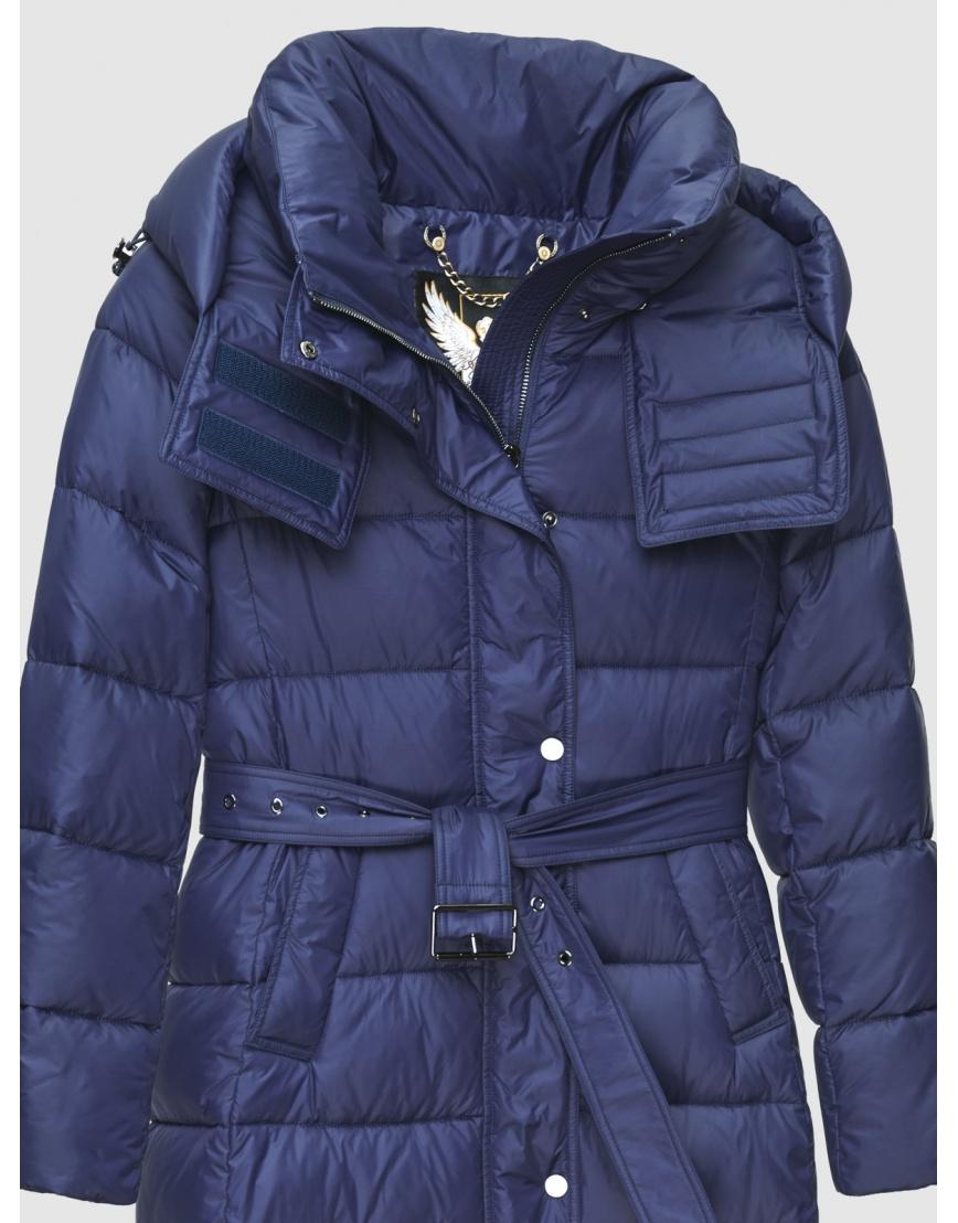 40 (3XS) – последний размер – длинная куртка женская Braggart синяя зимняя 200037 фото 3