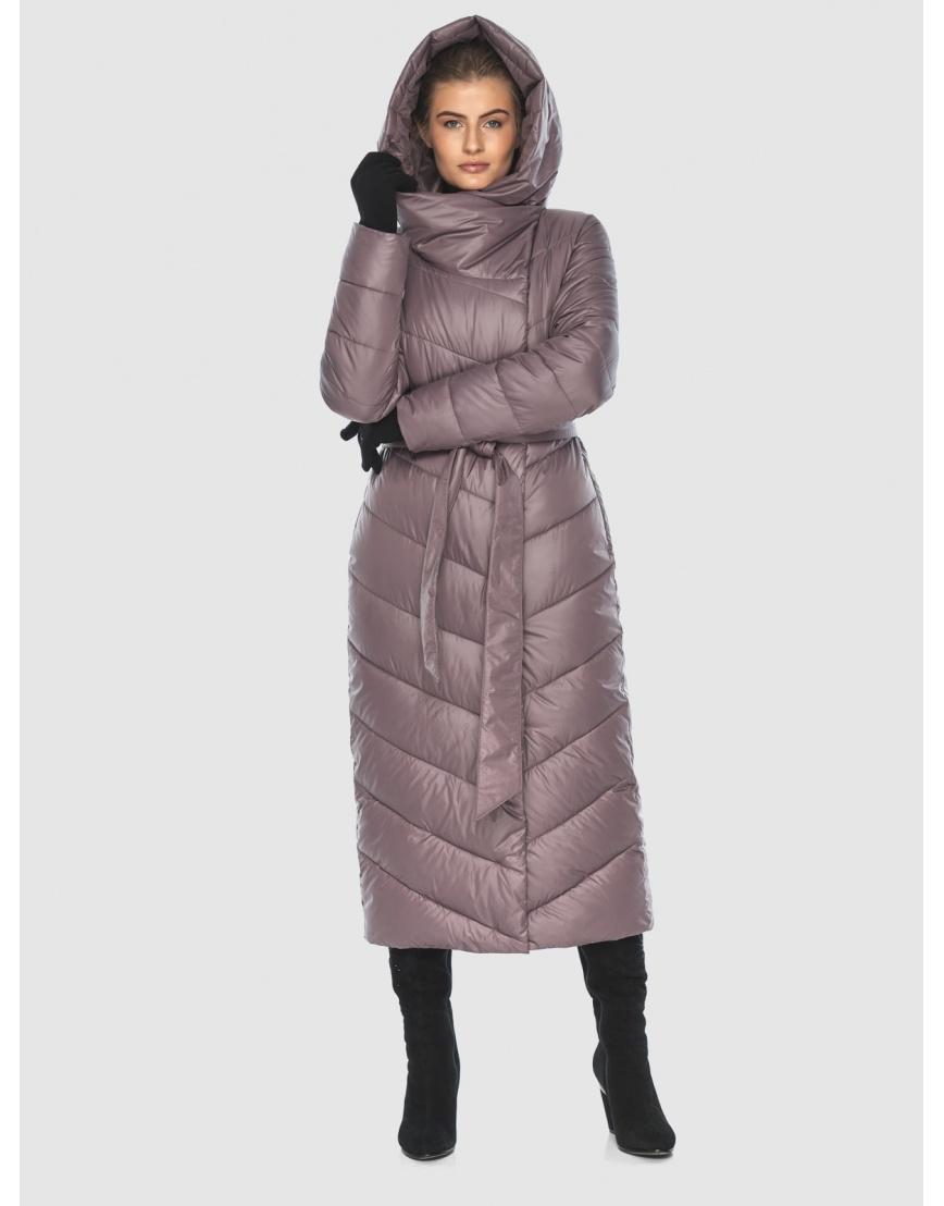 Пудровая стёганая куртка Ajento подростковая на зиму 23046 фото 3