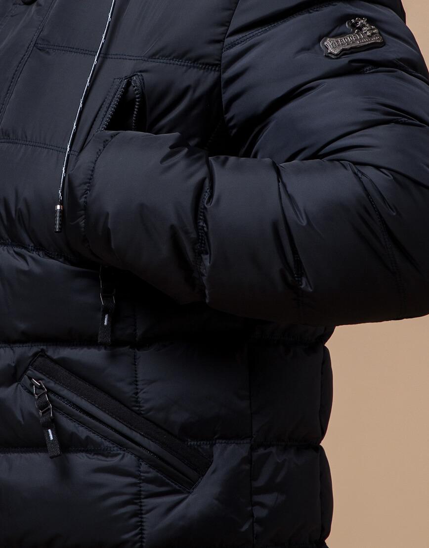 Темно-синяя куртка с капюшоном модель 27635