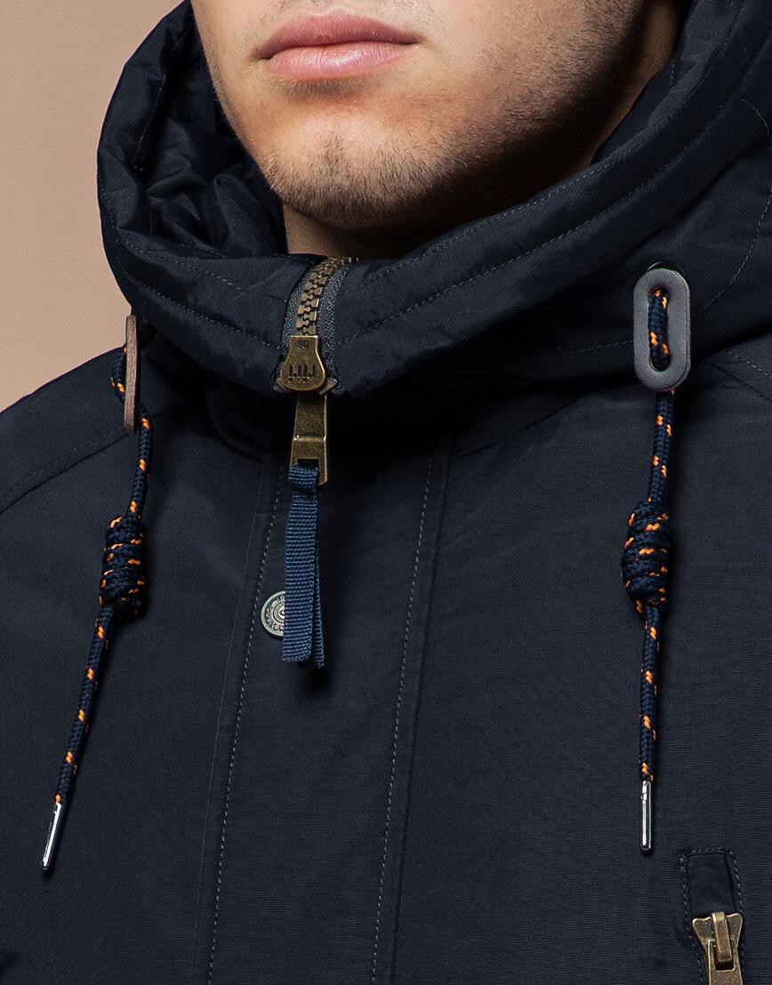 Парка темно-синяя зимняя мужская модель 3587 оптом фото 4