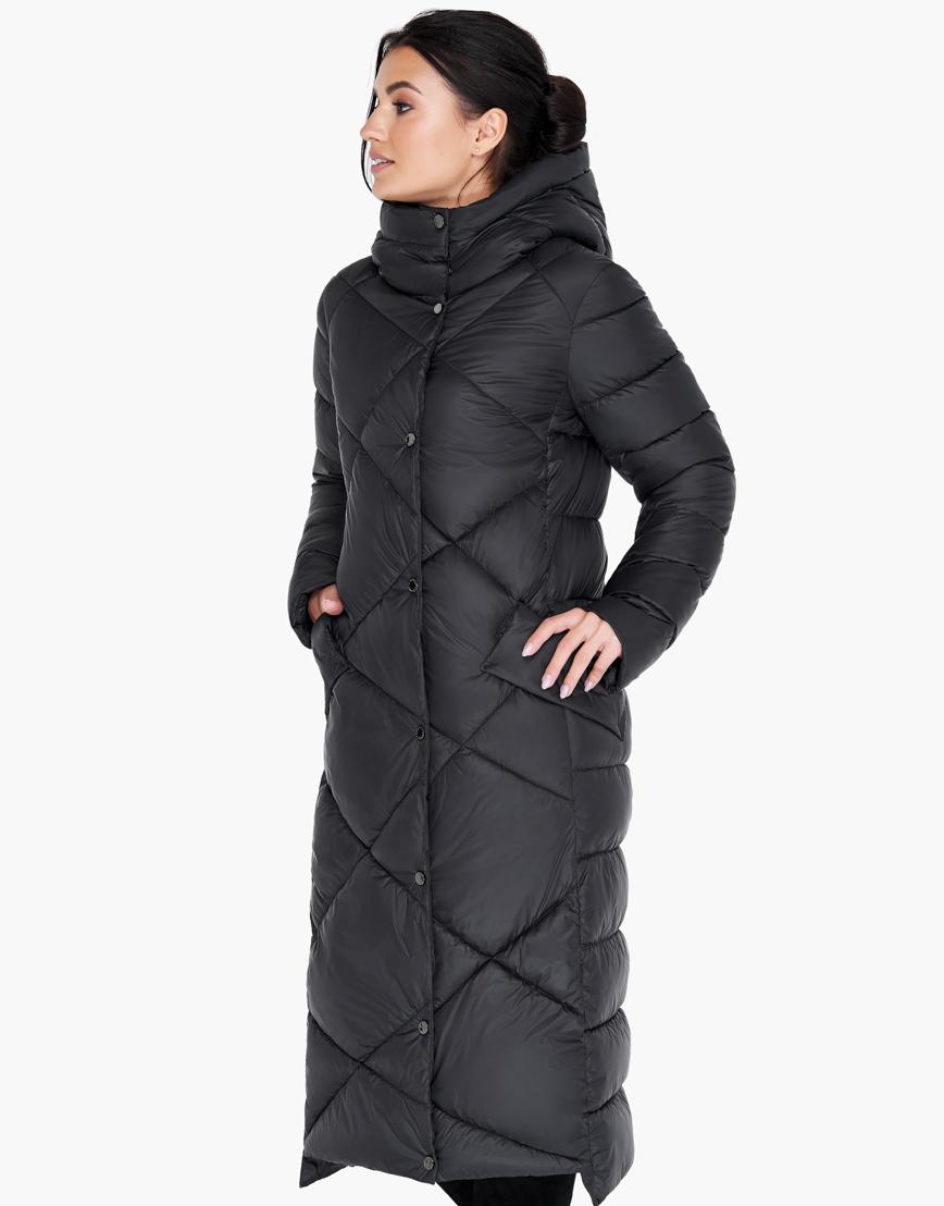 Зимний черный воздуховик женский Braggart высокого качества модель 31063 фото 3
