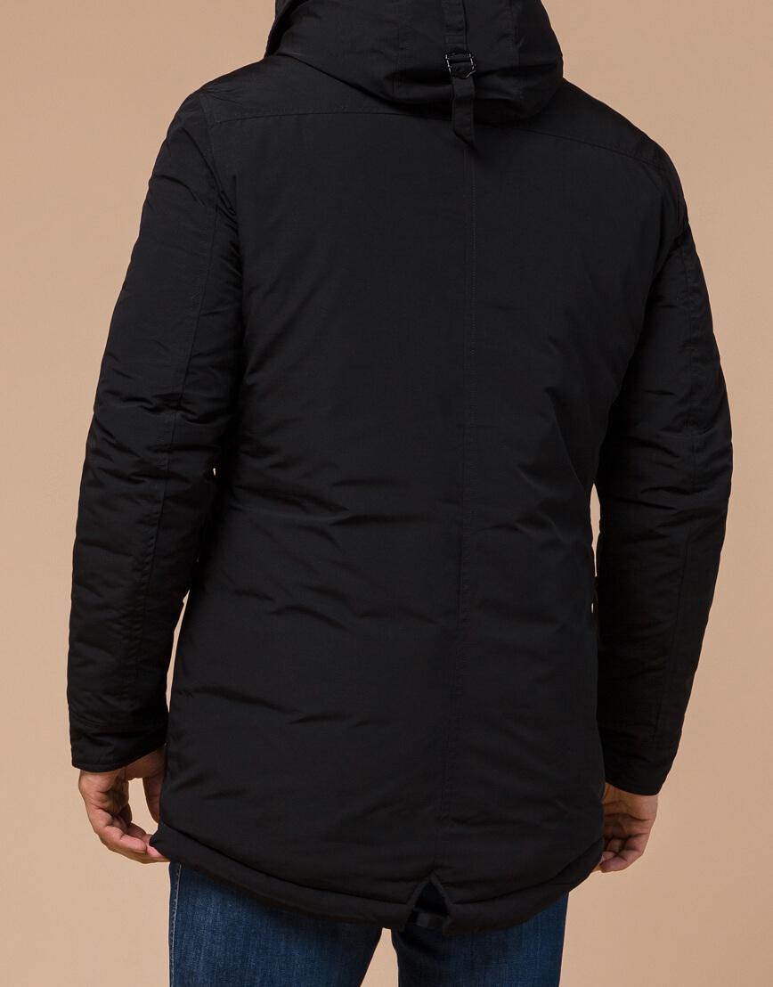 Парка брендовая черного цвета модель 28431