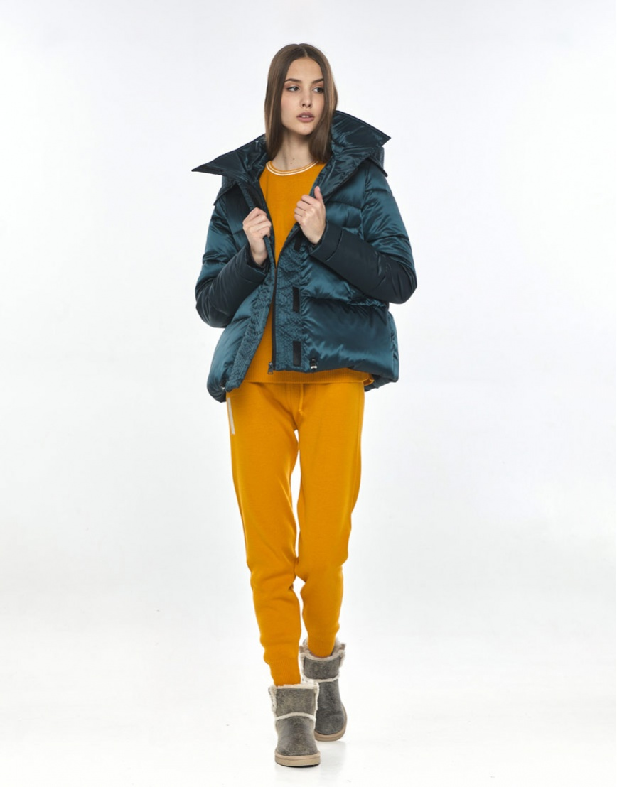 Куртка на весну женская Vivacana зелёная оригинальная 9742/21 фото 2