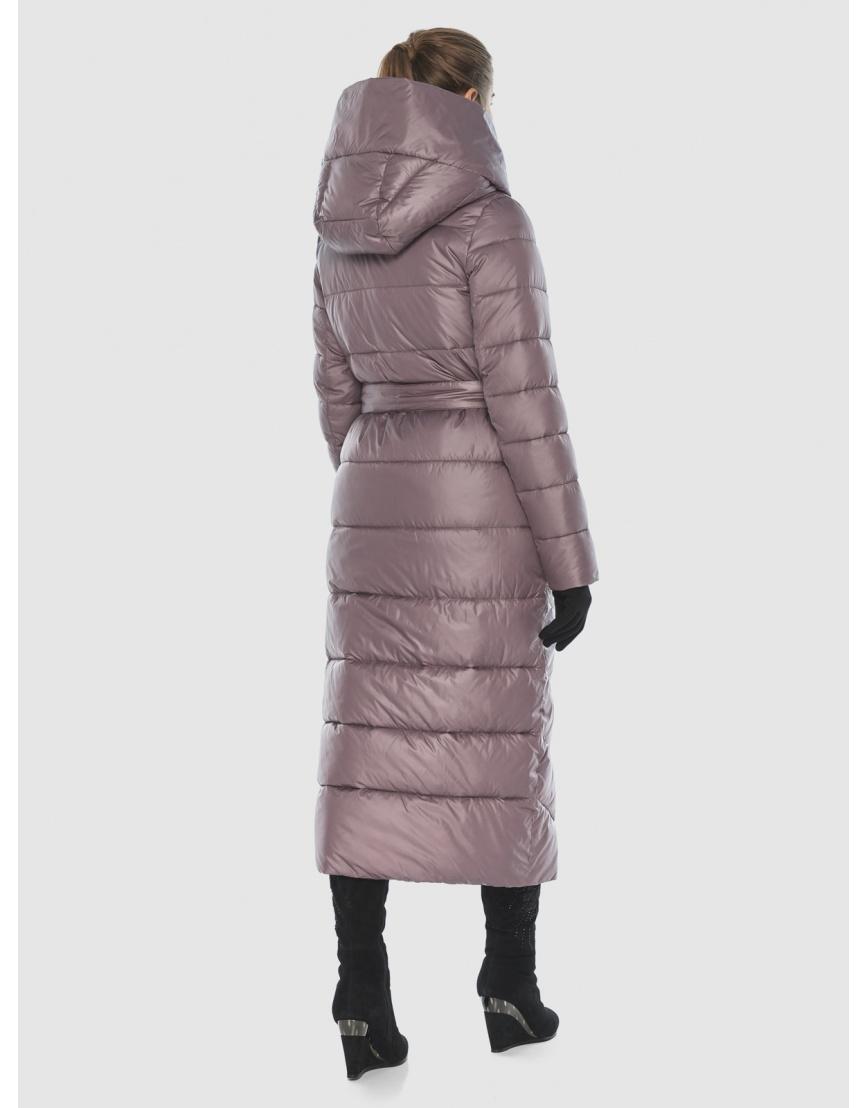 Пудровая стёганая куртка Ajento подростковая на зиму 23046 фото 4