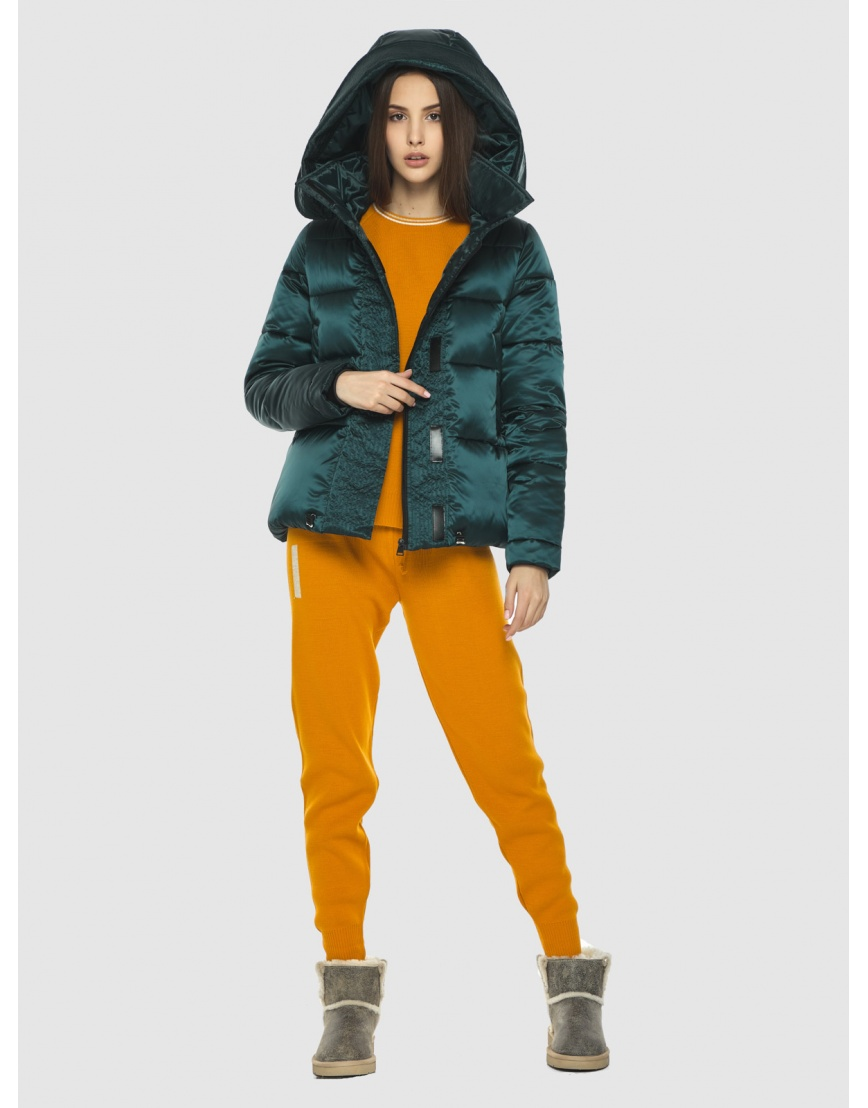 Курточка зелёная женская Vivacana комфортная  9742/21 фото 3