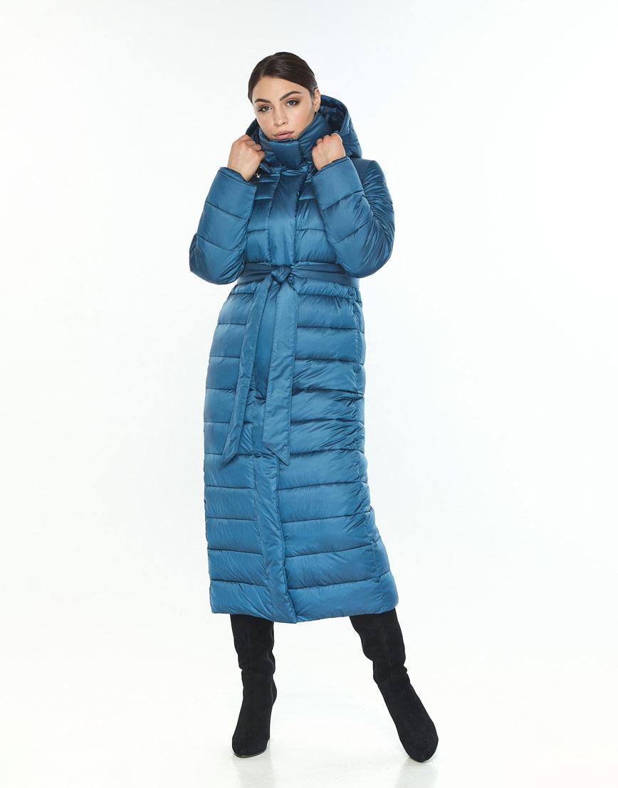 Женская куртка Wild Club зимняя аквамариновая фирменная 524-65 фото 1