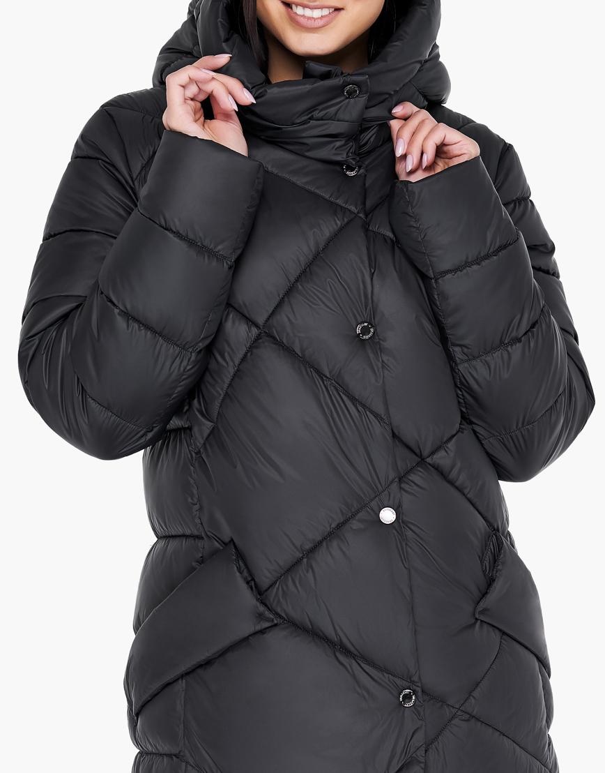 Зимний черный воздуховик женский Braggart высокого качества модель 31063 фото 6