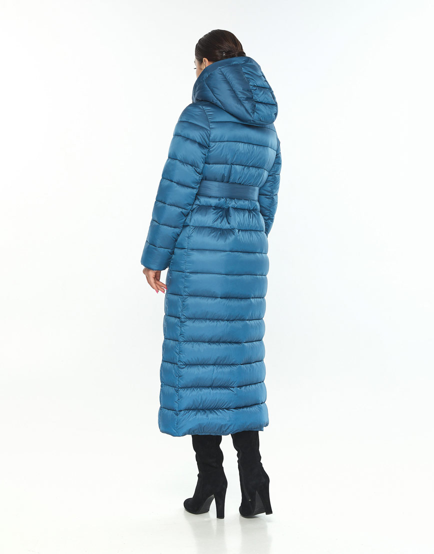 Женская куртка Wild Club зимняя аквамариновая фирменная 524-65 фото 3