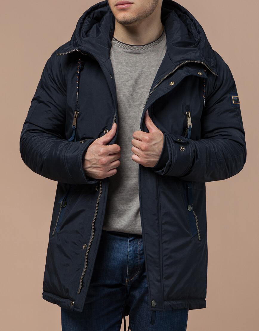 Парка темно-синяя зимняя мужская модель 3587 оптом фото 2