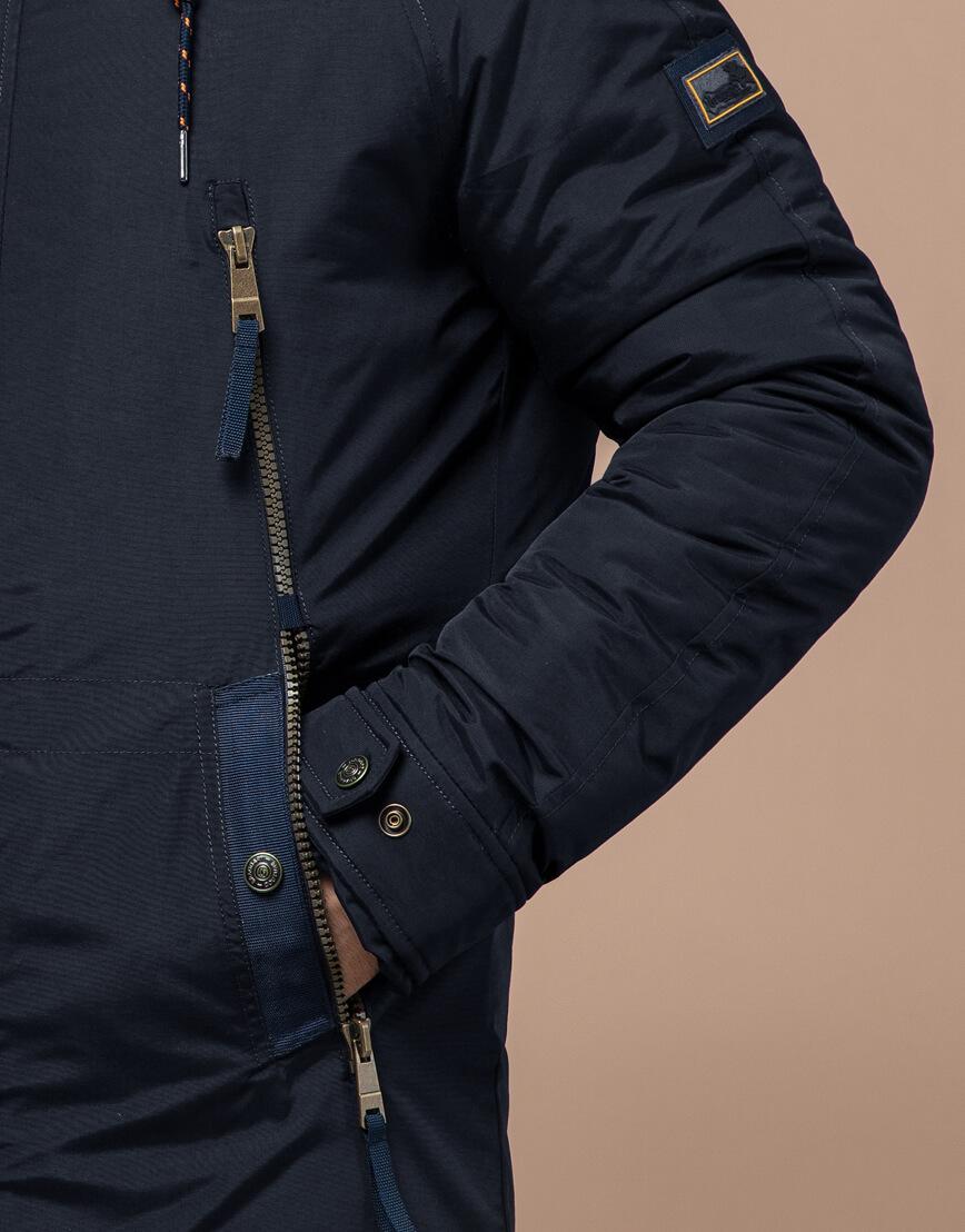 Парка темно-синяя зимняя мужская модель 3587 оптом фото 5