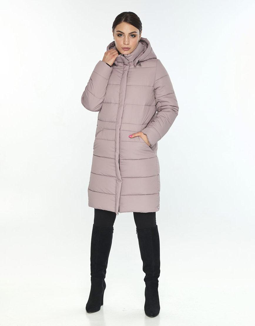 Люксовая куртка большого размера пудровая женская Wild Club 584-52 фото 2