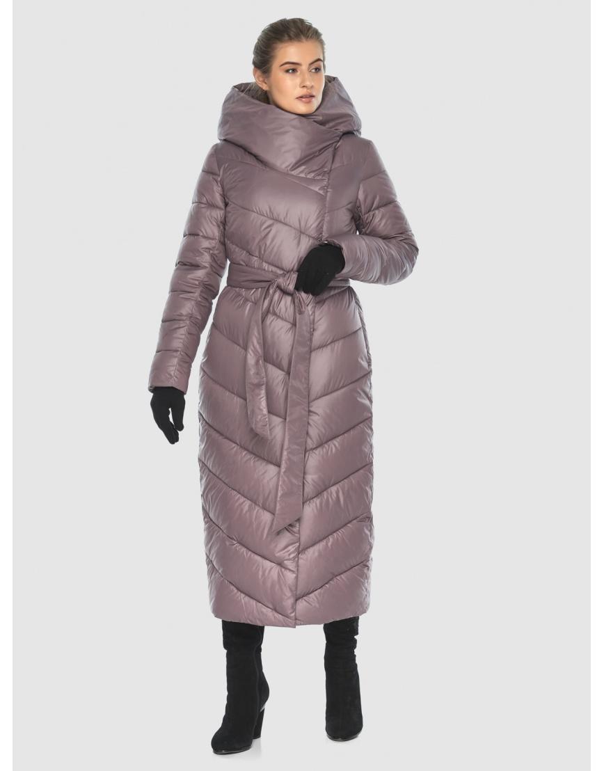 Пудровая стёганая куртка Ajento подростковая на зиму 23046 фото 5
