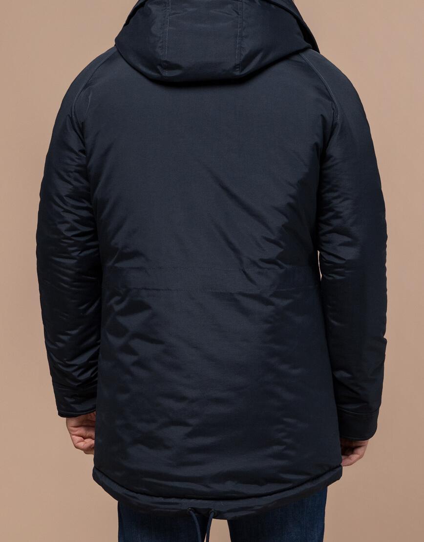 Парка темно-синяя зимняя мужская модель 3587 оптом фото 3