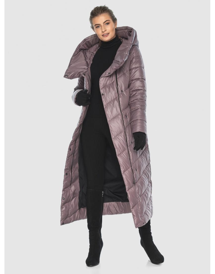 Пудровая стёганая куртка Ajento подростковая на зиму 23046 фото 6