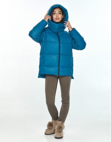 Куртка подростковая на девушку зимняя Moc аквамариновая M6212 фото 1