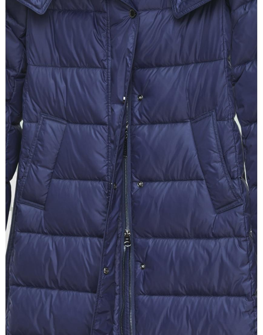 40 (3XS) – последний размер – длинная куртка женская Braggart синяя зимняя 200037 фото 4