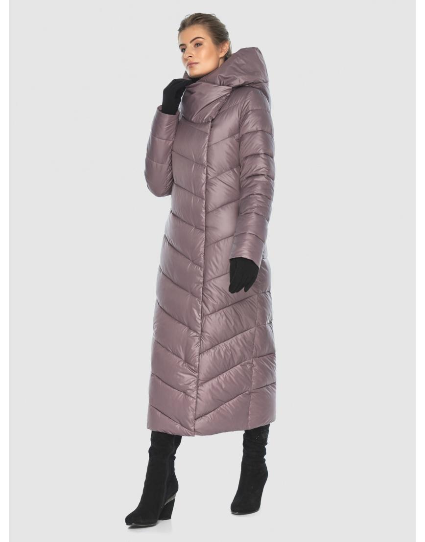 Пудровая стёганая куртка Ajento подростковая на зиму 23046 фото 2