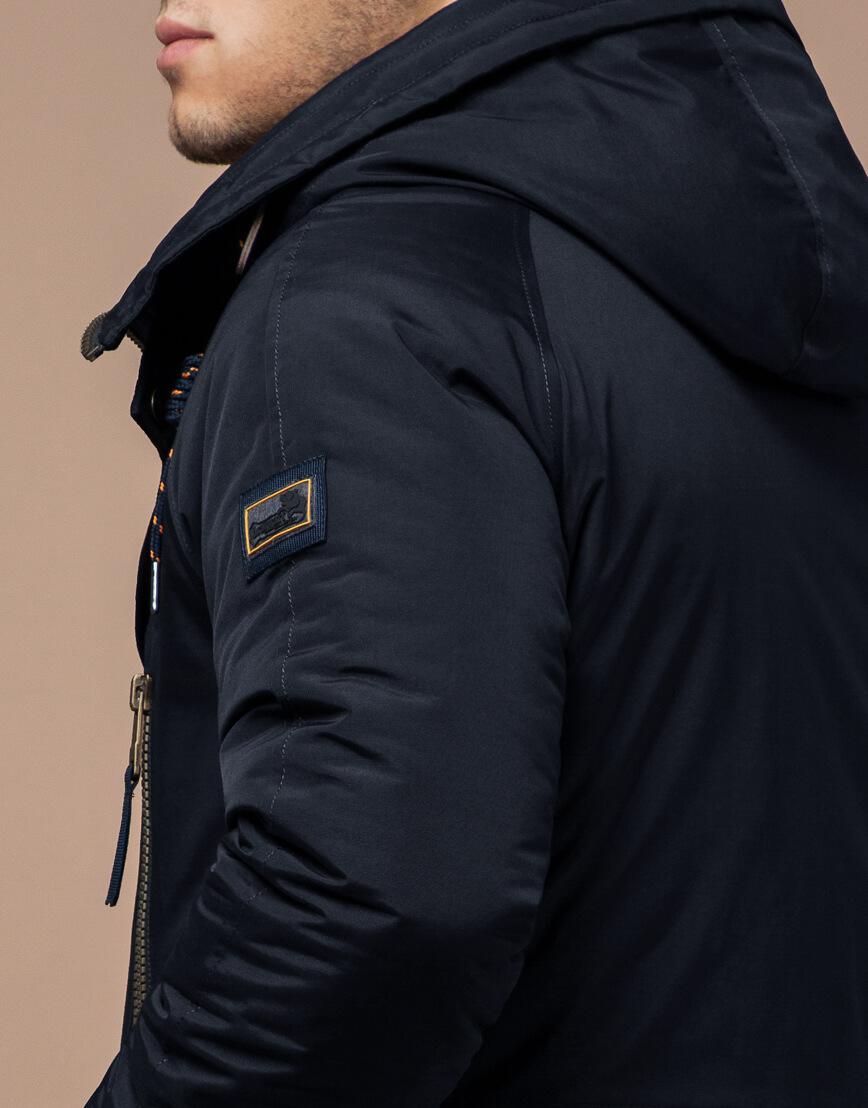 Парка темно-синяя зимняя мужская модель 3587 оптом фото 6