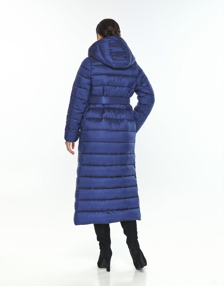 Длинная женская куртка Wild Club синяя на зиму 524-65 фото 3