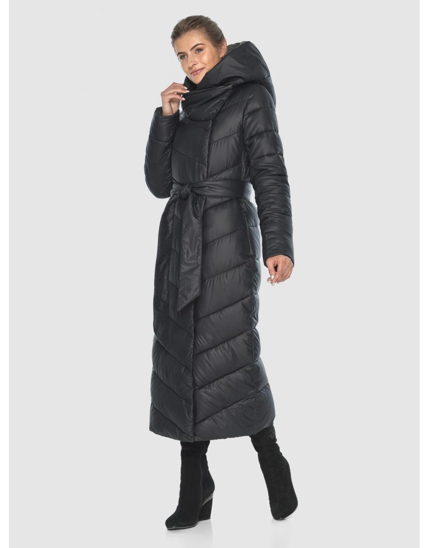 Элегантная чёрная зимняя курточка подростковая Ajento 23046 фото 1
