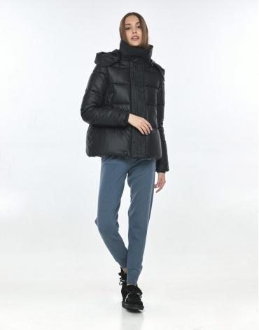 Трендовая куртка чёрная подростковая Vivacana 9742/21 фото 1