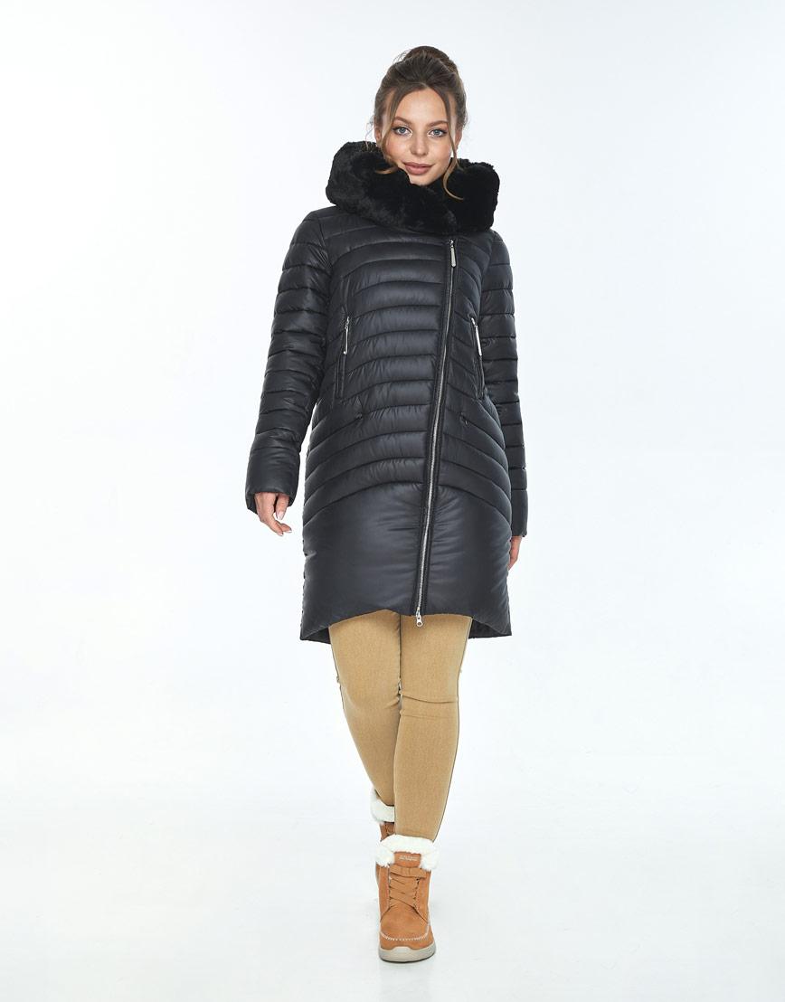 Куртка чёрная женская Ajento модная 24138 фото 1