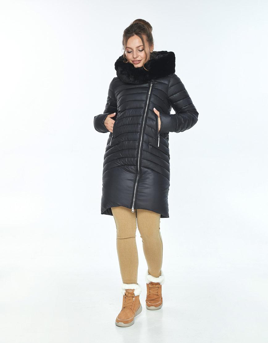 Куртка чёрная женская Ajento модная 24138 фото 2