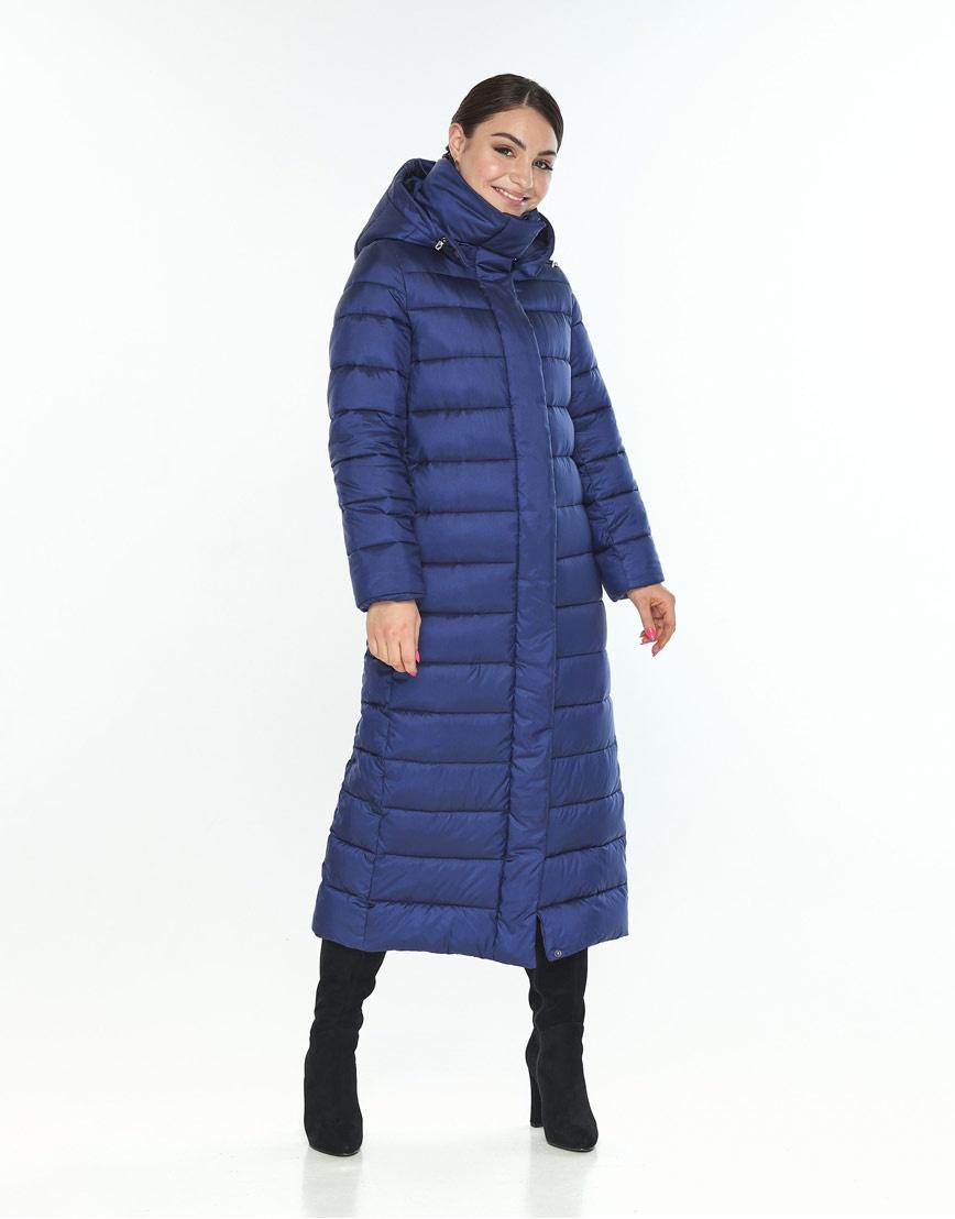 Длинная женская куртка Wild Club синяя на зиму 524-65 фото 2