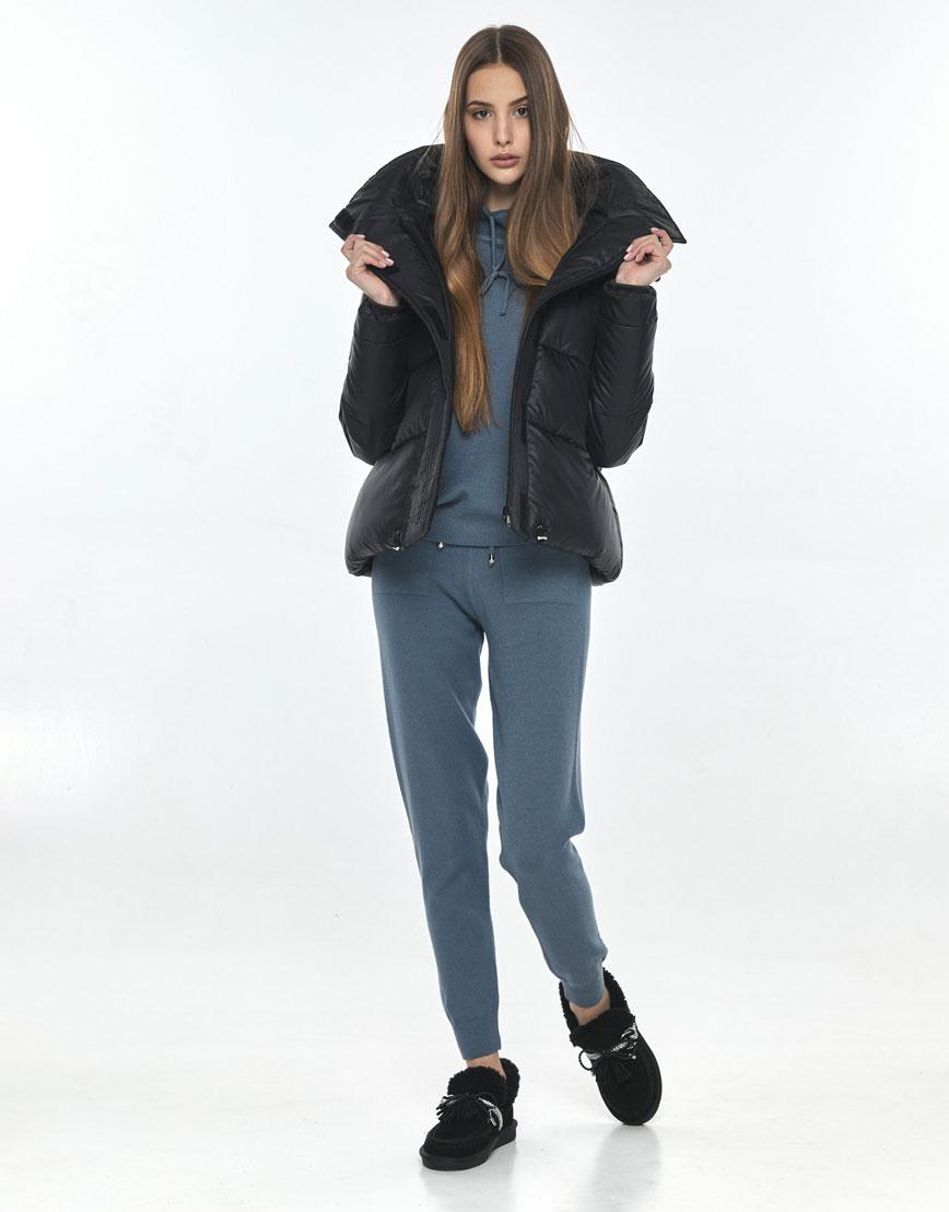 Трендовая куртка чёрная подростковая Vivacana 9742/21 фото 2