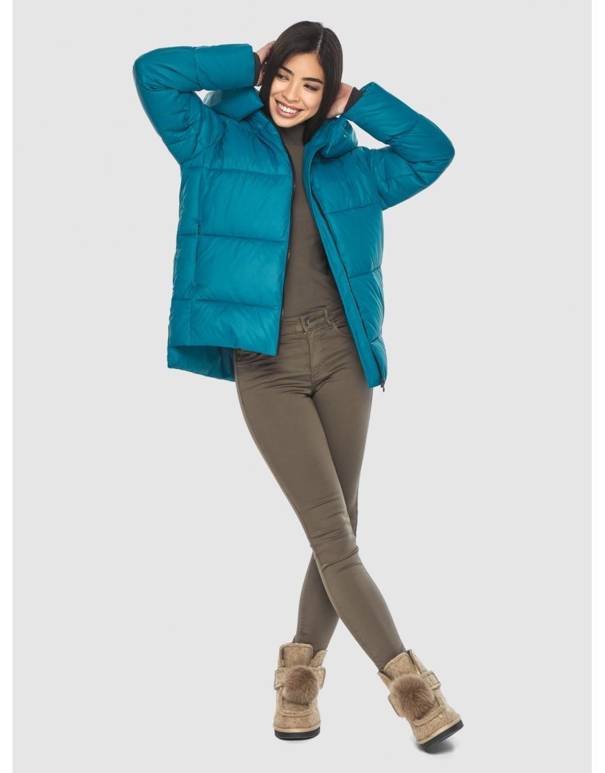 Трендовая аквамариновая куртка Moc женская M6212 фото 6