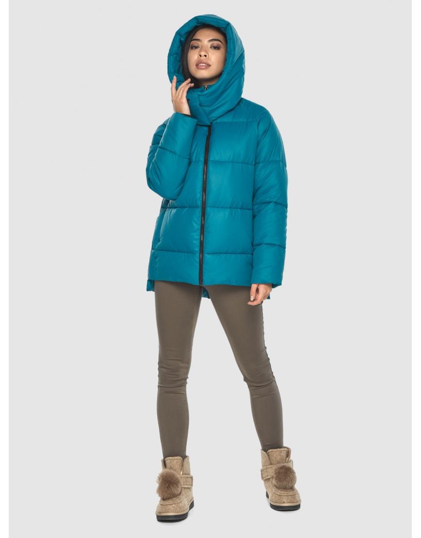 Трендовая аквамариновая куртка Moc женская M6212 фото 3