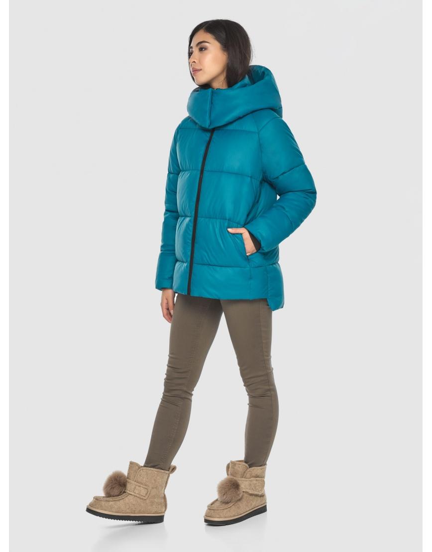 Трендовая аквамариновая куртка Moc женская M6212 фото 5