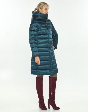Длинная зелёная куртка Kiro Tokao для зимы женская 60084 фото 1