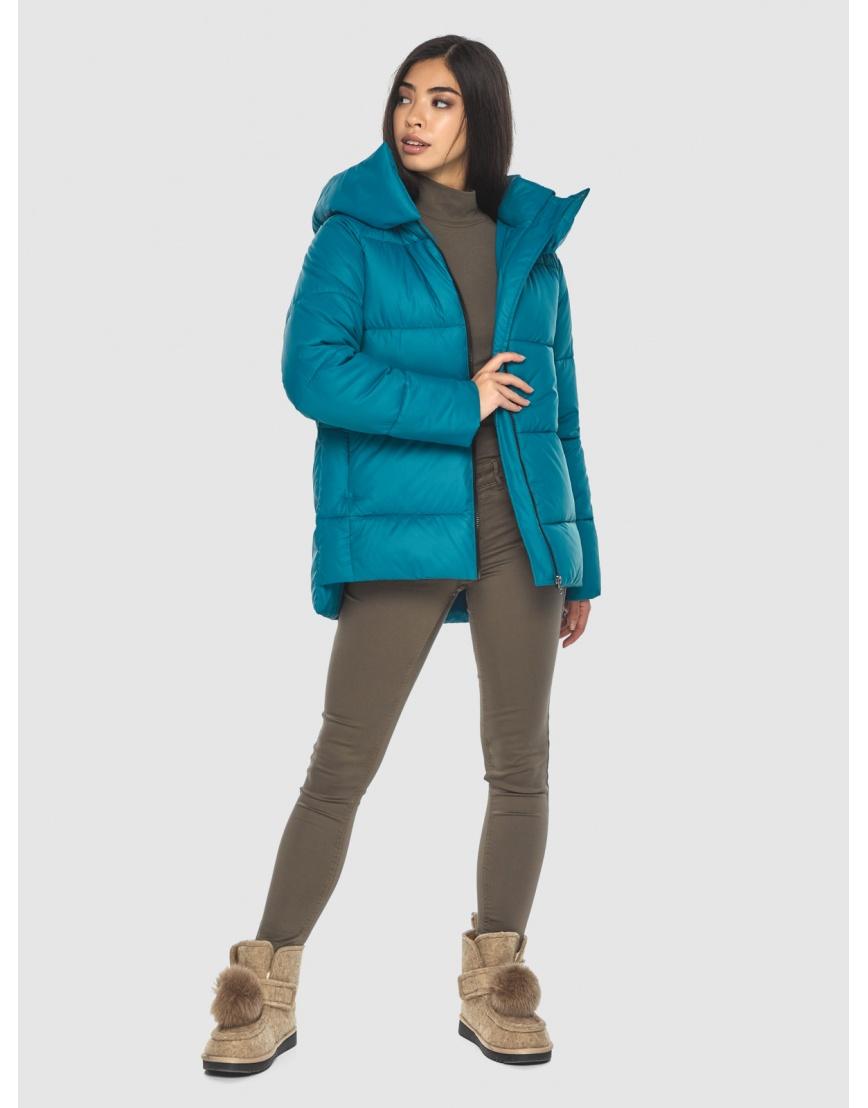 Трендовая аквамариновая куртка Moc женская M6212 фото 2