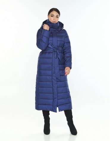 Длинная женская куртка Wild Club синяя на зиму 524-65 фото 1