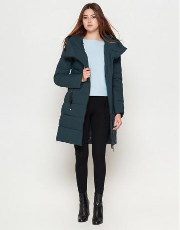 Высококачественная бирюзовая куртка женская молодежная модель 25035