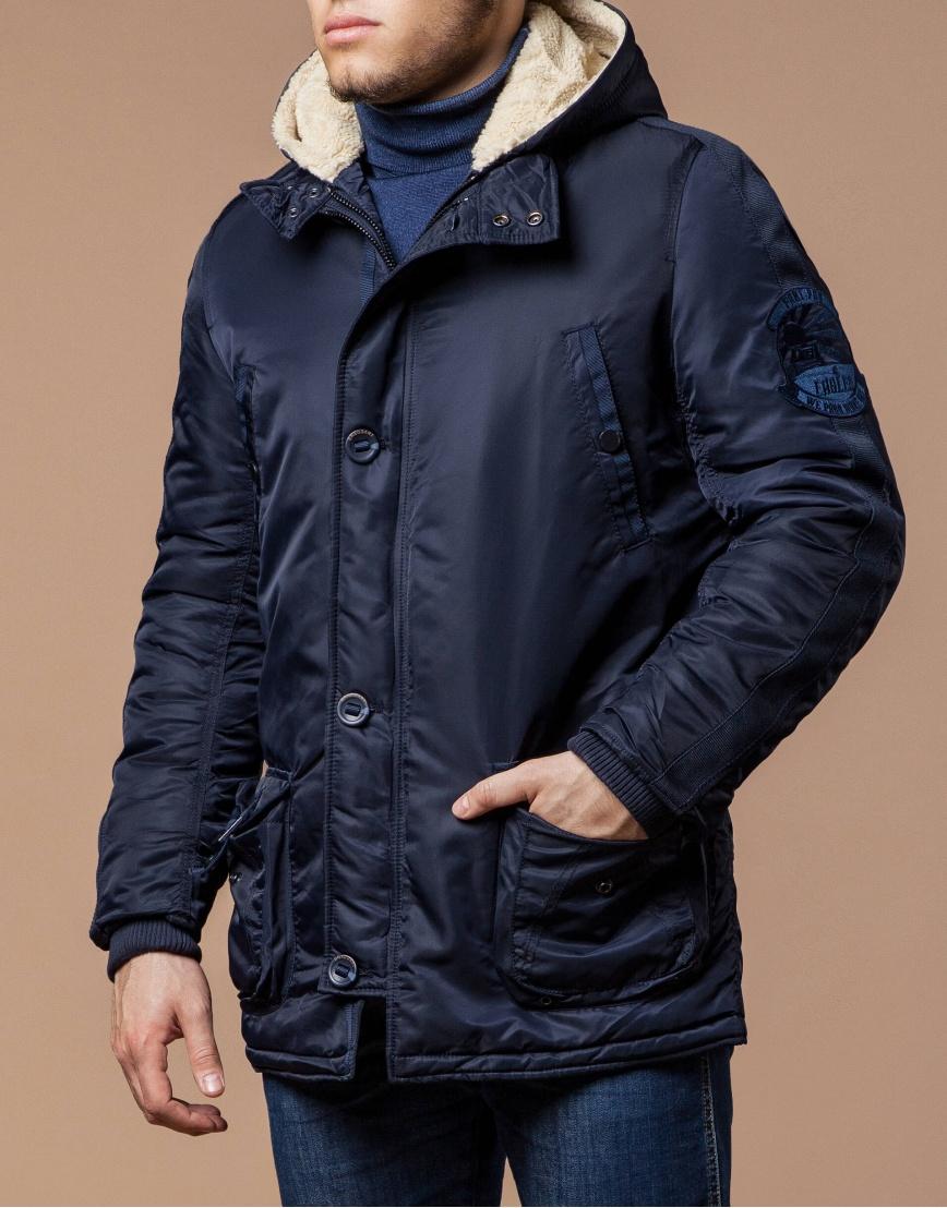 Парка мужская зимняя темно-синяя модель 34568 оптом фото 1