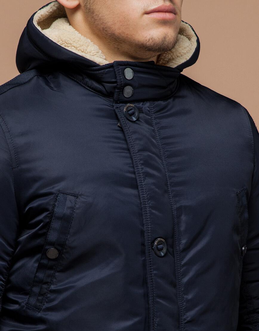 Парка мужская зимняя темно-синяя модель 34568 оптом фото 4
