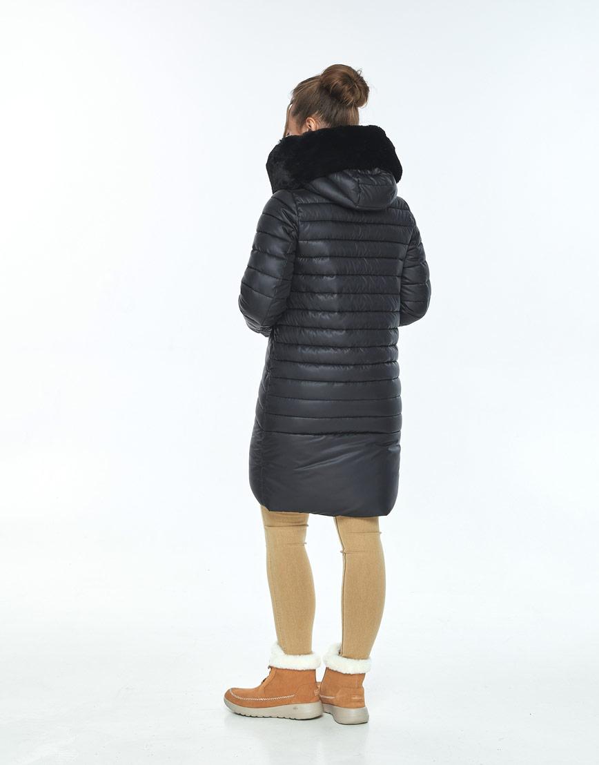 Куртка чёрная женская Ajento модная 24138 фото 3