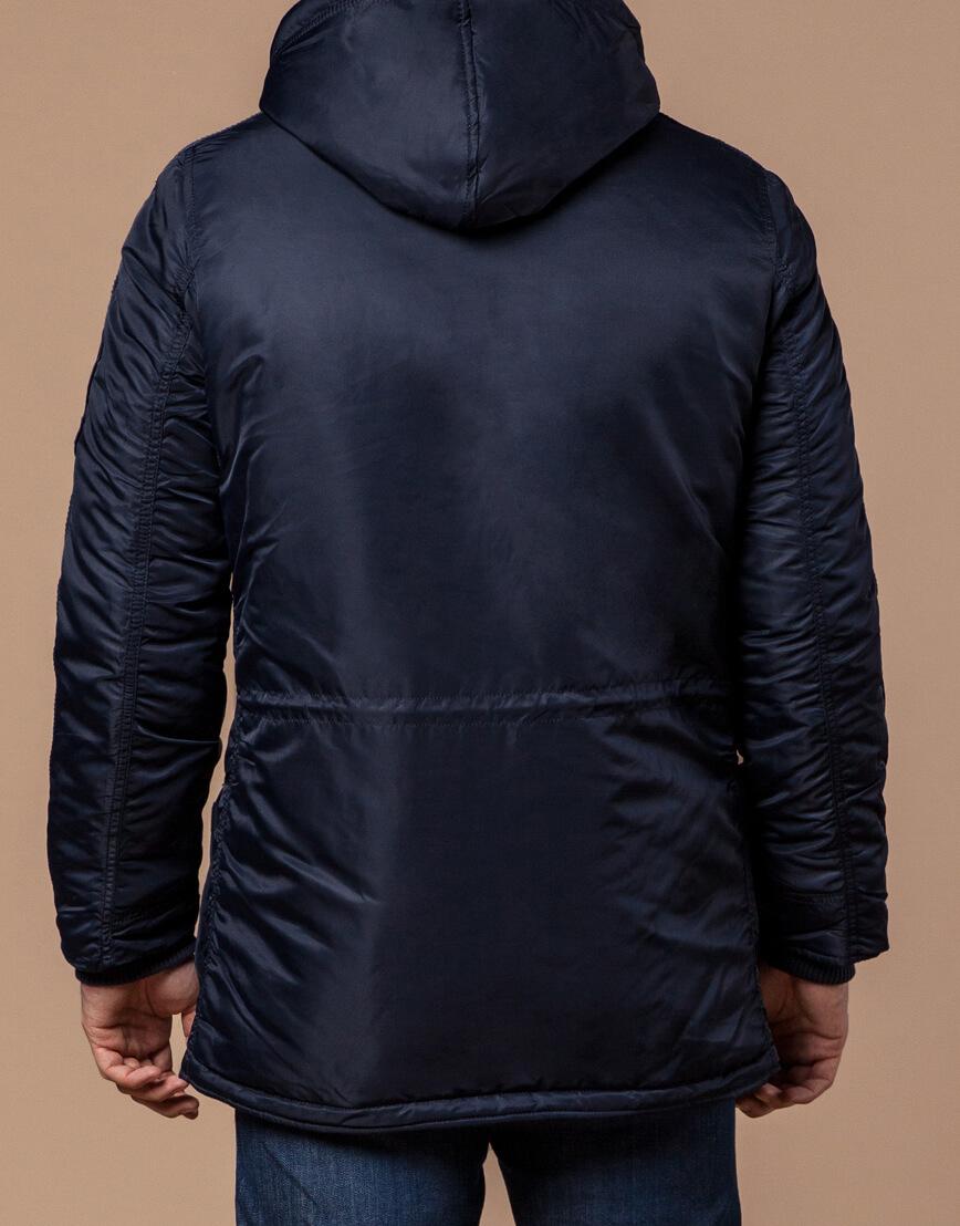 Парка мужская зимняя темно-синяя модель 34568 оптом фото 3