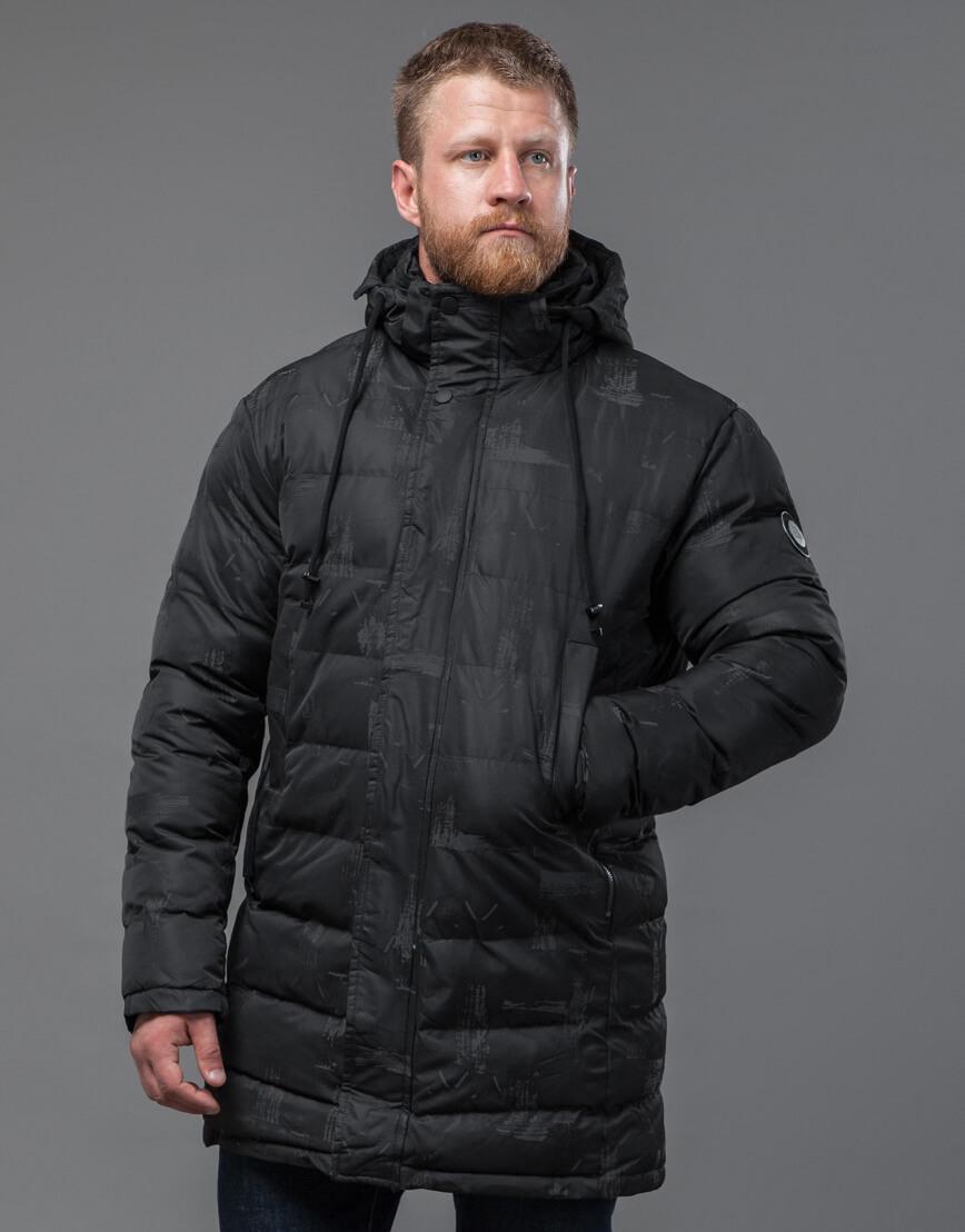 Темно-серая дизайнерская куртка удобная модель 52190 оптом