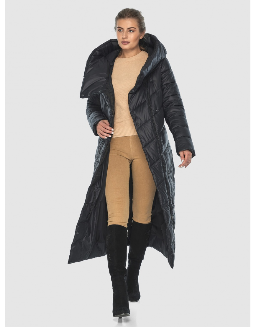 Элегантная чёрная зимняя курточка подростковая Ajento 23046 фото 6