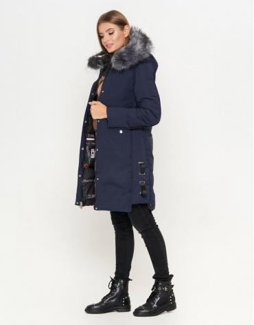 Двусторонняя женская синяя куртка модель 8107